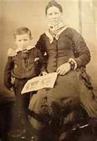 Wyatt Earp with his mother Virginia Ann Cooksey Earp c.1856.