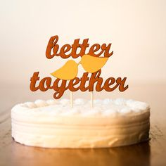 Wedding cake topper by Better Off Wed on Etsy #caketopper #wedding #cake
