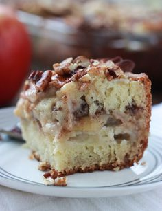 MADE- Boss liked it! Apple Sour Cream Coffee Cake - moist, sweet coffee cake