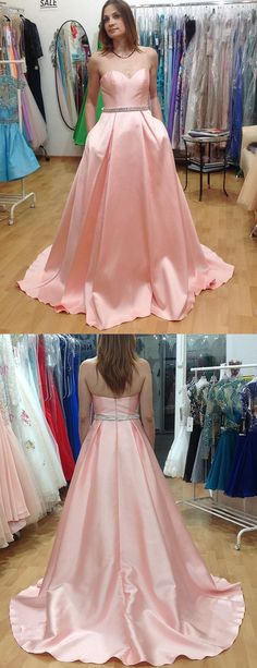2017 prom dresses,pink prom dresses,sweetheart prom dresses,long prom dresses @simpledress2480