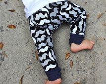 Mustache Pants/Mustache Leggings Baby Boy/Trousers Toddler Pants/Baby…