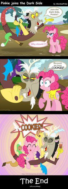 Pinkie joins the Dark Side by AleximusPrime on deviantART