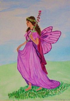This is my 1st attempt at a fairy done in water colours size A4.