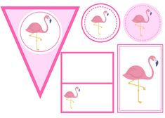 free printable flamingo party set