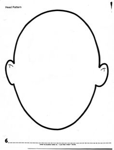 human head pattern use the printable outline for crafts creating