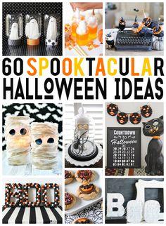 60 Spooktacular Halloween Ideas!! So many great ideas I want to try.