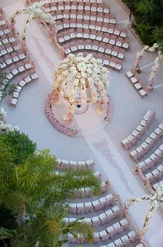 Bird's eye view of Mandy Bryant Dewey's Garden ceremony -repinned from LA officiant https://OfficiantGuy.com