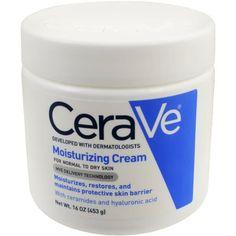 CeraVe Moisturizing Cream 16 oz Daily Face and Body Moisturizer for Dry Skin Best Drugstore Moisturizer, Homemade Face Moisturizer, Moisturizer For Oily Skin, Best Face Products, Beauty Products, Beauty Tips, Skin Products, Beauty Secrets, Beauty Stuff
