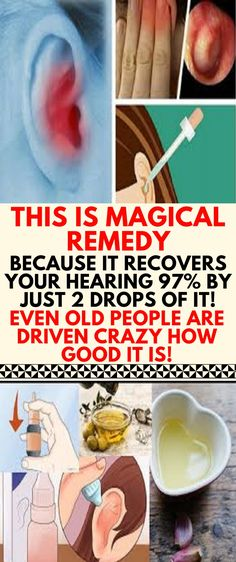 Natural Home Remedies 2 Drops of This In Your Ears and of Your Hearing Recovers! Even Old People From 80 to 90 Are Driven Crazy by This Simple and Natural Remedy! For Your Health, Health And Wellness, Health Tips, Health Care, Health Fitness, Hearing Problems, Natural Health Remedies, Herbal Remedies, Natural Ear Ache Remedies