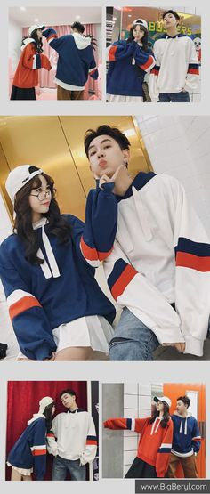 Matching Couple Hoodies - Korean Winter Couple Fashion Outfits. Cute  Oversized relationship hoodies for teens 18be5845d