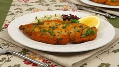 Chicken Schnitzel - Recipes - Best Recipes Ever - Pounding the chicken until thin makes it cook quickly and evenly. Anchovy paste adds a depth of flavour to the sauce so try not to leave it out. No one will know what ingredient is providing such deliciousness, and everyone will love it.