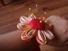 wrist band pin cushion - with instructions