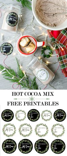 Hot Cocoa Mix Recipe Jar Gift with Free Christmas Printable Finding Christmas Christmas Jar Gifts, Diy Christmas Art, Christmas Projects, Christmas 2019, Merry Christmas, Christmas Decorations, Holiday Decor, Hot Cocoa Bar, Hot Cocoa Mixes