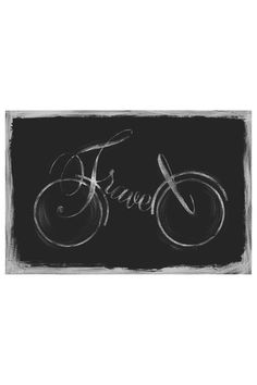 Equally at home in an artful collage or on its own as an eye-catching focal point, this gallery-wrapped canvas giclee print showcases a typographic bicycle m. Bike Tattoos, Bicycle Art, Chalkboard Art, Travel Themes, Chalk Art, My New Room, Wrapped Canvas, Canvas Wall Art, Giclee Print