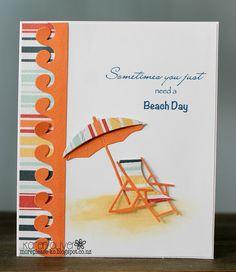 Frantic Stamper Precision Die - Beach Umbrella And Chair
