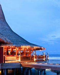 Baan Huraa restaurant is set over the water and serves Thai dishes with a Maldivian twist. #Jetsetter