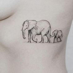 Image result for elephant and elephant baby tattoo