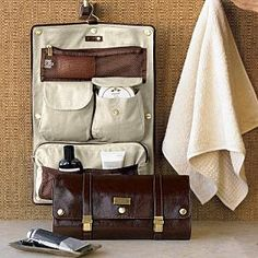 Leather travel case $129.95 - do you think R Cooper has a gift set like this? man, what a beauty!
