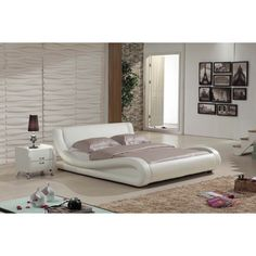 Dona 2-piece Ivory Modern Bed Set   Overstock™ Shopping - Great Deals on Beds