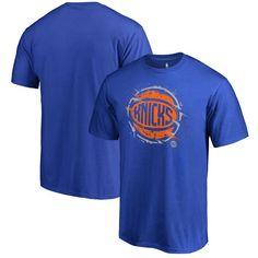 New York Knicks Fanatics Branded Splatter Logo T-Shirt - Royal