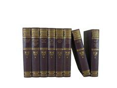 Purple Harvard Classics, S/8  #stagingprop #bookhomedecor #oldbooks #vintagebookdecor #interiordesign #vintagebooks #DecadesofVintage #vintagehomedecor #booksbycolor #decorativebooks