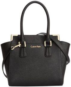 e161f22de1ce0d Calvin Klein On My Corner Saffiano Leather Crossbody   Reviews - Handbags    Accessories - Macy s