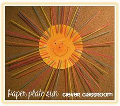 Paper Plate Sun Craft: Tuesday Art Linky