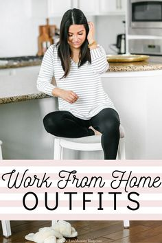 Work From Home Outfits #WorkFromHome #CasualOutfits #ComfyOutfits #WorkFromHomeOutfits #WFH #OutfitInspo #AtHomeOutfits