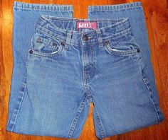 $9.99 OBO Levi's 549 Red Tag Relaxed Straight Kids Sz 7R 22X21 Excellent Condition #Levis