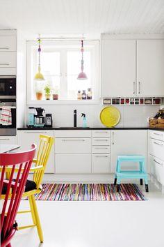 Veckans snyggaste hem – en riktig färgfest på neutral bas – Hus & Hem