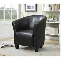 Radford Tub Chair in Black Faux Leather