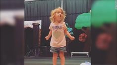 Two-year-old Violet Ogea's rendition of the alphabet song is…