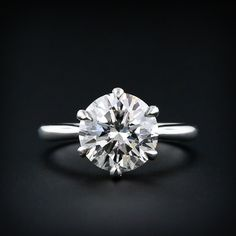 Classic 2.72 Carat Diamond Engagement Ring