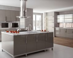 High Gloss Kitchen Cabinets Design, Pictures, Remodel, Decor and Ideas