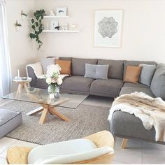 The Best Small Apartment Living Room Decor Ideas 22 Living Pequeños, Living Room Grey, Living Room Modern, Living Room Sofa, Home Living Room, Living Room Ideas With Grey Couch, Living Room Ideas Modern Contemporary, Living Room Decor Colors Grey, Living Room Ideas 2019