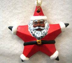 African American Santa Claus Ornament by INSPIRATIONSBYROBIN, $10.00