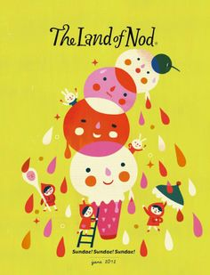 The Terrier and Lobster: Land of Nod Catalog Art