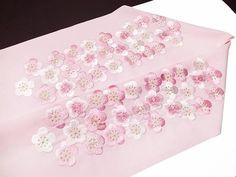 振袖 半衿 半襟 日本製 梅詰め 刺繍半襟 振袖小物 薄ピンク 新品 品番 03501366 梅詰め NO,2 h703r