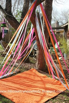 sweet little streamer tent