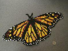 Perler Bead Monarch Butterfly by SuperMrHolmes on deviantART