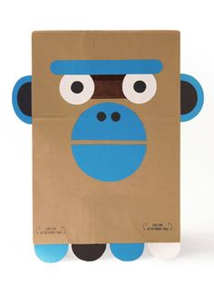 DIY Paper Bag Costume, The Ghoulish & Giggly Gorilla - download the template for free from Wee Society