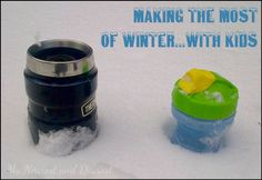 Making the most of winter with kids. Tips and inspiration from My Nearest and Dearest blog. Plus the Get Outside and Play blog hop.