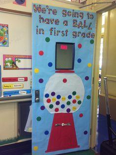 First grade classroom door decor
