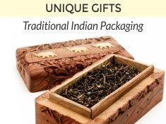Darjeeling Tea in handcrafted carving box