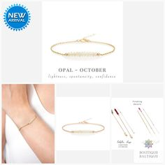 Genuine Ethiopian Opal Bracelet in Gold, Rose Gold or Sterling Silver - Personalized Jewelry Gift for Women - October Birthstone Dainty Bracelets, Gemstone Bracelets, Gemstone Earrings, Red Gemstones, October Birth Stone, Opal Gemstone, Opal Jewelry, Matching Necklaces, Personalized Jewelry