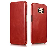 86 best icarer samsung galaxy s6 edge case images cowhide leathericarer samsung galaxy s6 edge side open vintage series genuine leather case cover samsung galaxy s6