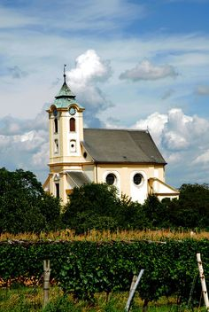 Church in cloudy sky