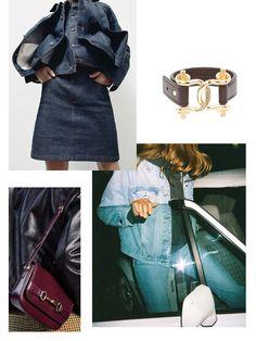 Double Denim & Horsebits — Keep it Chic Boucle Jacket, Double Denim, Silk Midi Dress, London Hotels, Cool Chairs, Slingback Sandal, Penny Loafers, Wool Blend, Color Pop