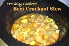 SCD Crockpot Beef Stew (*Use fresh diced tomatoes. Detox Recipes, Wine Recipes, Food Network Recipes, My Recipes, Real Food Recipes, Slow Cooker Recipes, Crockpot Recipes, Beef Stew Crockpot Easy, Allergy Free Recipes