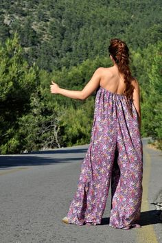 Floral Jumpsuit with oversized pants